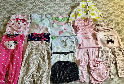 15+ pc used baby girl clothes lot sz 3-6 months. Includes add. items