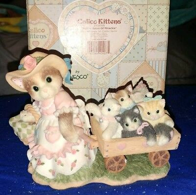 Calico-Kittens-Mom Maker of Miracles #295604-Figurine-1997