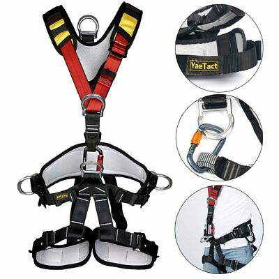 Full Body Harness Seat Belt Sit Bust Safety Belt for Rock Climbing Rappelling