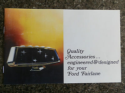 1967 Ford Za Fairlane  Accessories Sales Brochure    100% Guarantee.