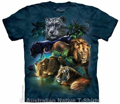 Big Cats Jungle T-Shirt in Adult Sizes - Lions, Tigers, Leopards by The Mountain