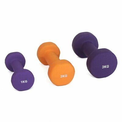 NEW SMAI Hex Single Dumbbell - Neoprene (Sizes 1kg, 2kg, 3kg) - Home Gym Body...