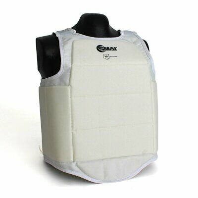 NEW SMAI WKF Approved Karate Body/Chest Protector - White Martial Arts Compet...