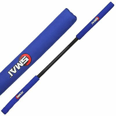 NEW SMAI Martial Arts Weapon Bo Staff     Foam Safety 5ft in Blue, Red - Kara...