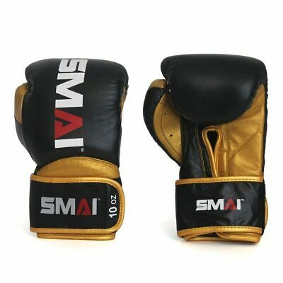 NEW SMAI Boxing Gloves Mexican Hybrid Genuine Leather 10oz 12oz 14oz 16oz - M...