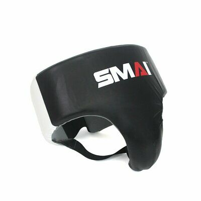 NEW SMAI Boxing Groin Guard Protector Genuine Leather - MMA Muay Thai Kick Bo...