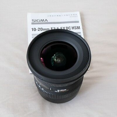 Sigma EX 10-20mm f/3.5 EX DC HSM Lens for Canon with UV Filter