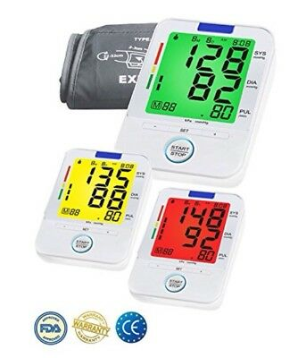 Upper Arm Blood Pressure Monitor Digital Automatic Heartbeat Medical Memory UK