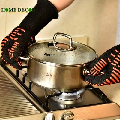 Kitchen Barbecue Oven Gloves BBQ Grill Long Glove For Extra Forearm Protection