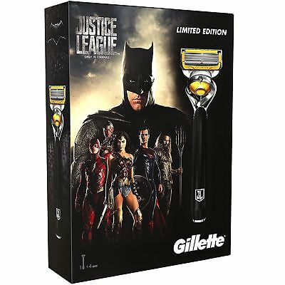 Gillette Fusion ProShield Men's Razor + Blades - Justice League Edition Gift Set