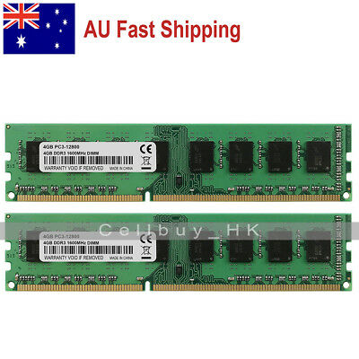 AU 8GB KIT 2X4GB PC3-12800 DDR3-1600Mhz 240PIN DIMM Desktop Memory For Intel
