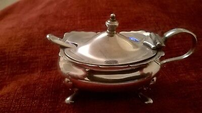 Solid Silver Mustard Pot......1934 - Adie Bros. Superb Flawless Condition