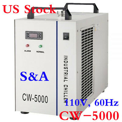 110V S&A CW-5000 Industrial Water Chiller FOR Wood Carving / Ultraviolet Laser