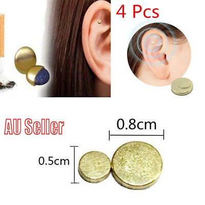 4xCigarettes Magnetic Stop Smoke Ear Acupressure Ear Magnet Quit Anti-Smoking MN