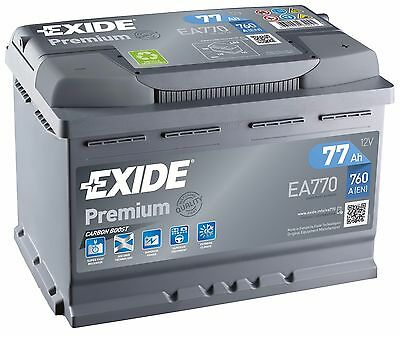 Batterie Start-up Auto Exide EA770 12v 77ah 760A 278x175x190mm