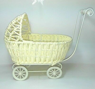 Toy dolls pram stroller Basket bassinet style Small Little