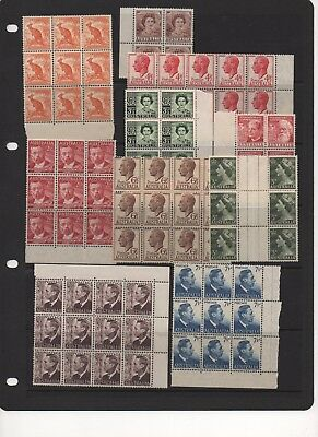 AUSTRALIA - Pre-Decimal Stamp Blocks - MINT