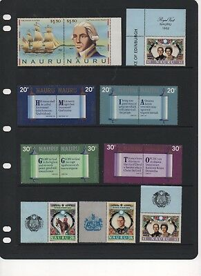 NAURU - Beautiful MINT Stamp Blocks