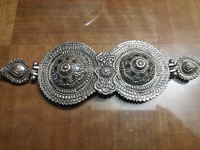 antique greek epirus karakatsan 19th ottoman era silver niello belt buckle