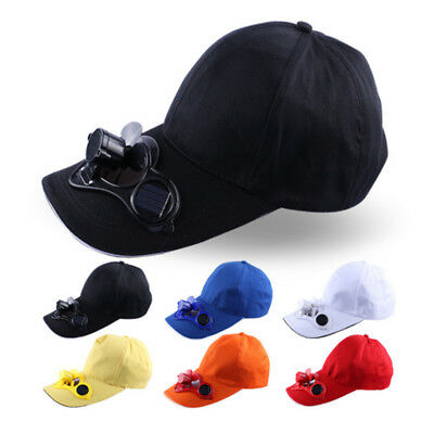Solar Power Fan Hat Cap Cooling Cool Fan For Golf Baseball Hiking Fishing Travel