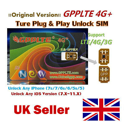 MAGIC GPPLTE 4G+ SIM.UNLOCK AN PHONE- FOR ALL iPHONES 7P/5/6/7 IOS10.x CARD