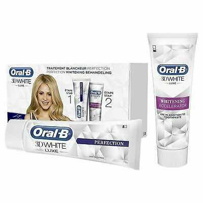 Oral-B 3D White Luxe Perfection Teeth Whitening Treatment Toothpaste Bundle Gift
