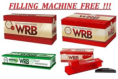 Sets 1250/1500/2000 King Size Cigarette Filter Tubes + Filling Machine Free !!!