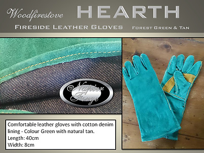 FIREPLACE ACCESSORIES Fireplace HEARTH LEATHER GLOVES  / Fire Resistant  For/Tan