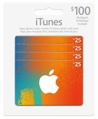 Canadian Itunes Card $100