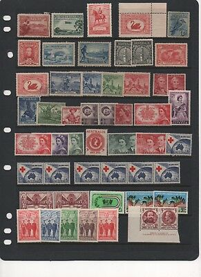 AU - PRE-Decimal Stamps - MINT - including one block