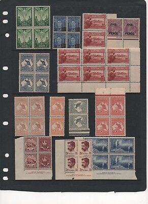 AU - PRE-Decimal Stamps - MINT blocks - some with Toning