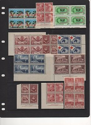 AU - PRE-Decimal Stamps - MINT blocks
