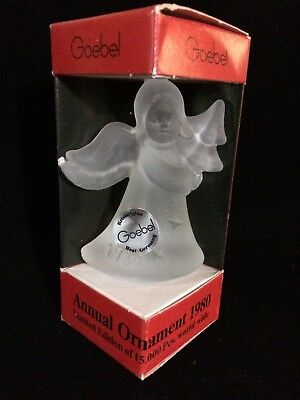 Goebel 1980 Limited Edition Annual Angel Crystal Christmas Ornament New