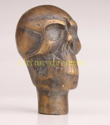 Bronze Holy Skull Magic Cane Walking Stick Head Handle Collection