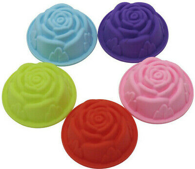 """Chocolate, Melts, Muffin Bread -SOAP- making mould large """"Rose' Shape x 2."""