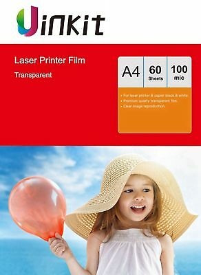 A4 OHP Film Acetate Transparent  for Laser Printer 210X297 Uinkit - 60 Sheets