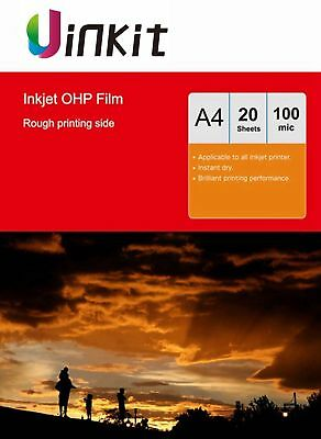 A4 Overhead Projector OHP Film Acetate Clear With Stripe For Inkjet - 20 Sheets