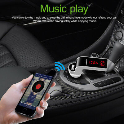 Bluetooth Wireless FM Transmitter Kit For Car MP3 Music Radio Player & USB Port
