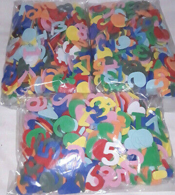 Foam Numbers ~ 2.5cm ~ Great for Crafts ~ 300 Pieces
