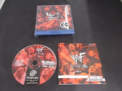 Sega Dreamcast Pal Game WWF ATTITUDE with Box Instructions