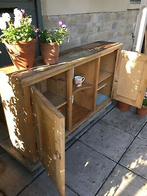 Vintage Pine Wall Unit Cupboard