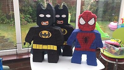 Super heroes Batman, Spiderman , Piñatas, Party Games Boys Fun party Birthdays