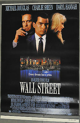 Wall Street 1987 Orig. 27X41 Movie Poster Michael Douglas,charlie Sheen