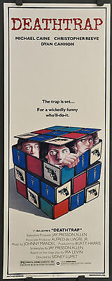 Deathtrap 1982 Orig 14X36 Movie Poster Michael Caine Christopher Reeve