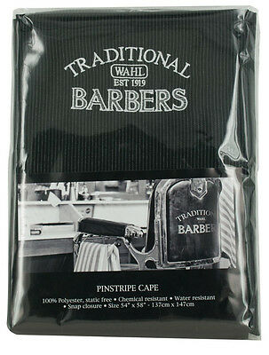 Wahl Traditional Barbers Pinstripe Hairdressing Cape