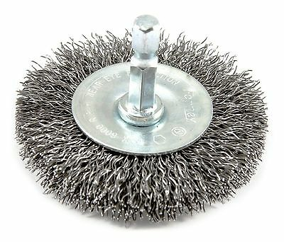 Forney 72733 Wire Wheel Brush Coarse Crimped with 1/4-Inch Hex Shank 2-1/... New