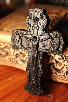 Wooden Carved Cross Bog Oak 5000years wood. Free ship!