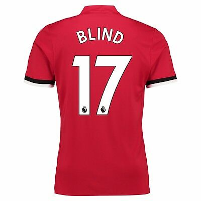 Adults Large Manchester United Home Shirt 2017-18 with Blind 17 MU1