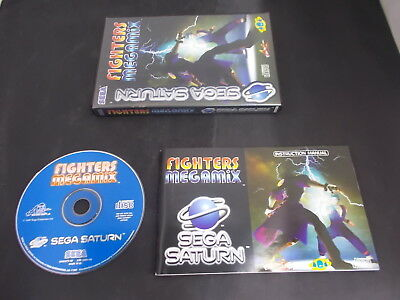 Sega Saturn Pal Game (A) FIGHTERS REMIX with Box Instructions