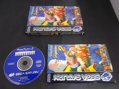 Sega Saturn Pal Game (A) VIRTUA FIGHTER 2 with Box Instructions